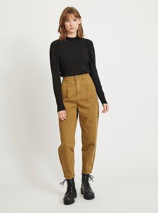 Khaki zkrácené kalhoty .OBJECT