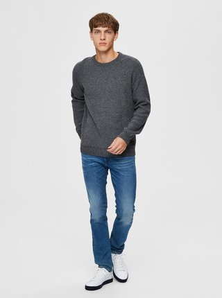Šedý sveter Selected Homme