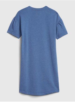 Modré dievčenské šaty GAP Logo