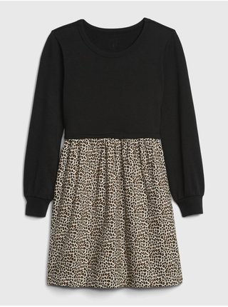 Čierne dievčenské šaty GAP