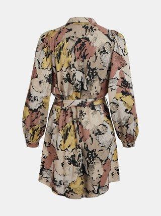 Béžové vzorované volné šaty .OBJECT