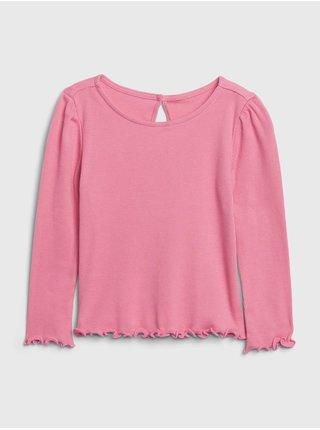 Ružové dievčenské tričko GAP