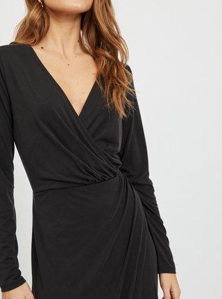 Černé zavinovací pouzdrové šaty .OBJECT