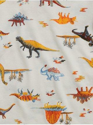 Biele chlapčenské pyžamo GAP Dino