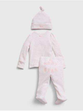 Ružový dievčenský set GAP Kimono