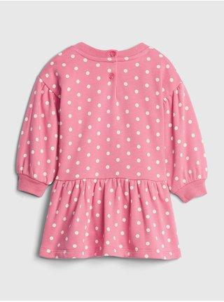 Růžové holčičí šaty GAP Logo