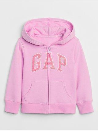 Ružová dievčenská mikina GAP Logo