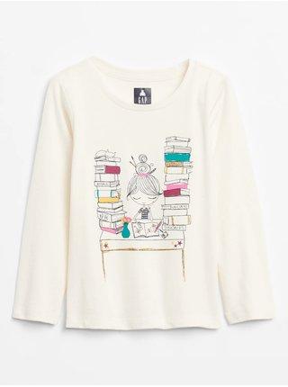 Bílé holčičí tričko GAP Graphic
