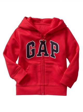 Červená chlapčenská mikina GAP Logo