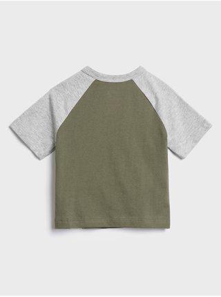 Šedé chlapčenské tričko GAP Logo