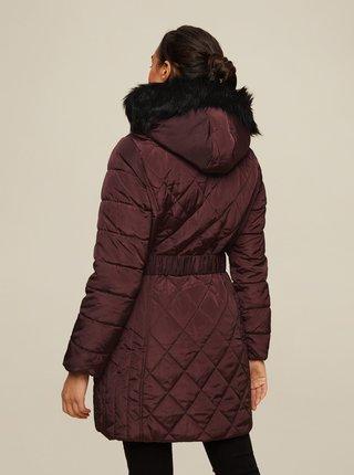 Vínový zimní prošívaný kabát Dorothy Perkins