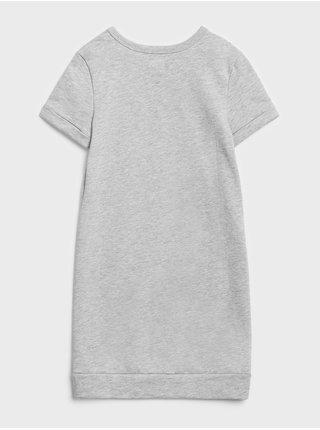 Šedé dievčenské šaty GAP Logo