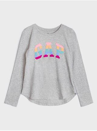 Šedé holčičí tričko GAP Logo