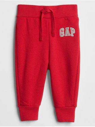 Červené dievčenské tepláky GAP Logo