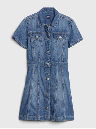 Modré holčičí džínové šaty GAP