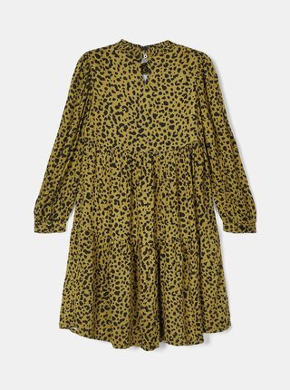 Žlté dievčenské vzorované šaty name it
