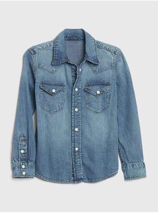 Modrá chlapčenská rifľová košeľa GAP Western