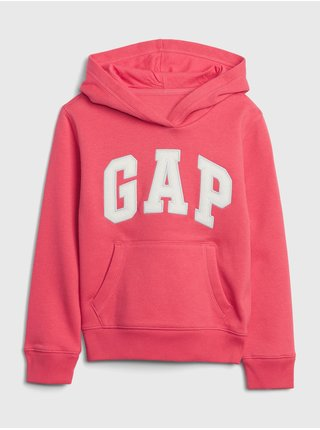 Růžová holčičí mikina GAP Logo Hoodie