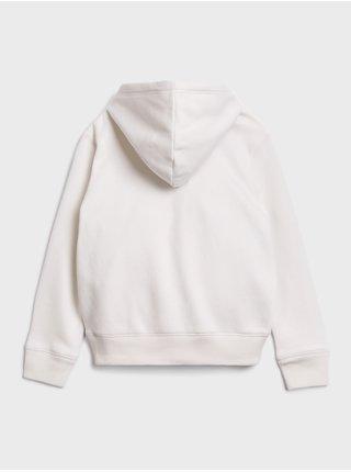 Bílá holčičí mikina GAP Logo Hoodie