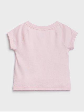 Ružové dievčenské tričko GAP Logo