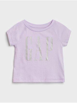 Fialové holčičí tričko GAP Logo