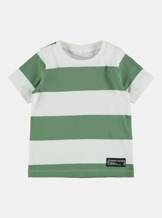 Zelené chlapčenské pruhované tričko name it