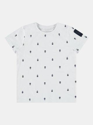 Biele chlapčenské vzorované tričko name it