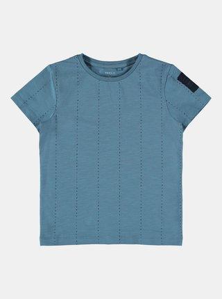 Modré klučičí vzorované tričko name it
