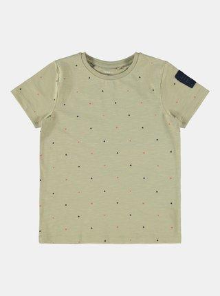 Zelené chlapčenské vzorované tričko name it