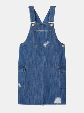 Modré divčenské rifľové šaty na traky name it