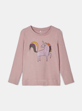 Světle fialové holčičí tričko s potiskem name it