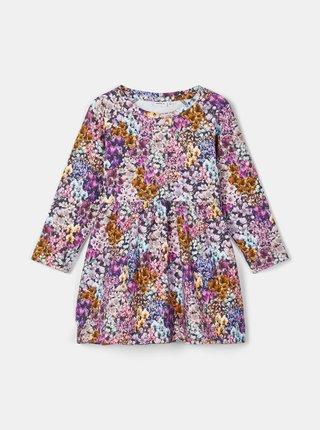 Růžové holčičí květované šaty name it