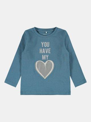 Modré dievčenské tričko s potlačou name it