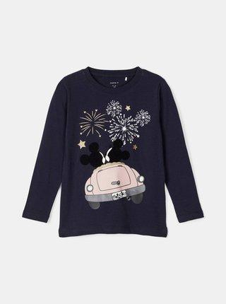 Tmavomodré dievčenské tričko s potlačou name it
