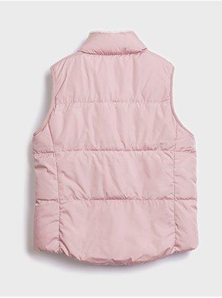 Růžová holčičí vesta GAP