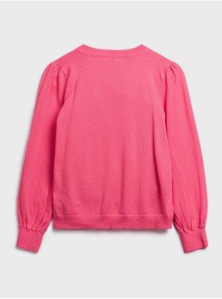 Růžový holčičí svetr GAP