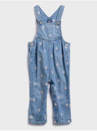 Modré dievčenské rifľové nohavice na traky GAP