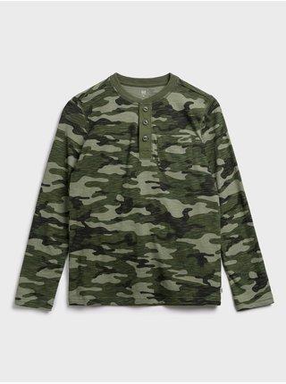 Zelené chlapčenské tričko GAP