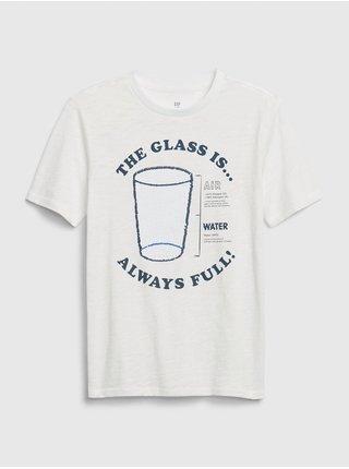 Biele chlapčenské tričko GAP
