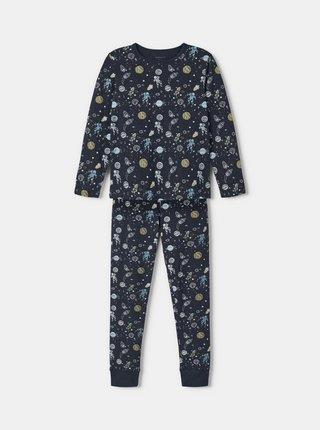 Tmavomodré chlapčenské vzorované pyžamo name it