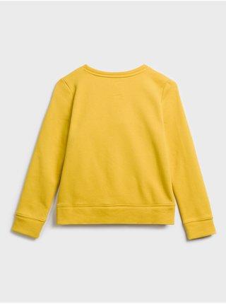Žlutá holčičí mikina GAP Logo