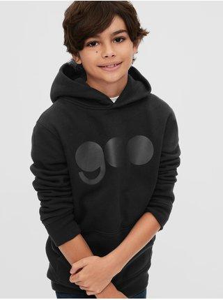 Čierna chlapčenská mikina GAP Logo