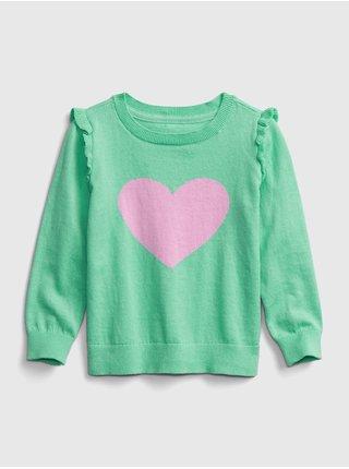 Zelený holčičí svetr GAP