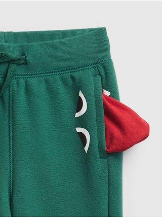 Zelené chlapčenské tepláky dinosaurus GAP
