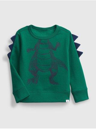 Zelená chlapčenská mikina dinosaurus GAP