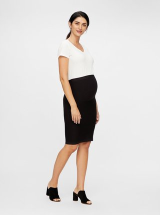 Černá pouzdrová těhotenská sukně Mama.licious