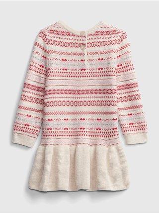 Smetanové holčičí šaty GAP
