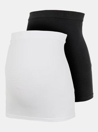 Sada dvou těhotenských pásů v bílé a černé barvě Mama.licious