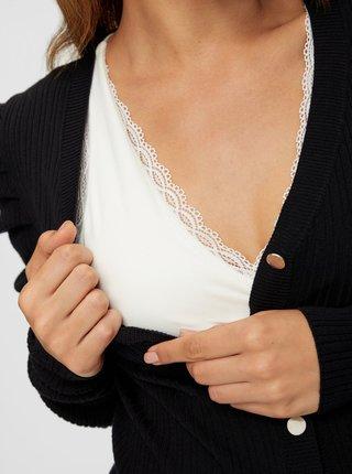 Čierne tehotenské púzdrové šaty Mama.licious