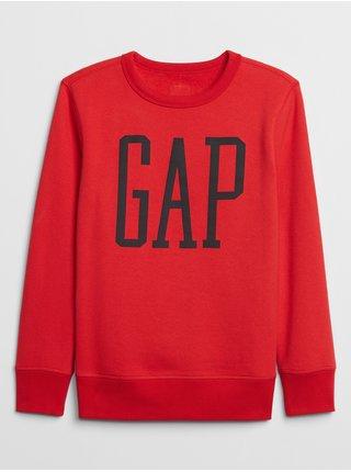 Červená klučičí mikina GAP logo